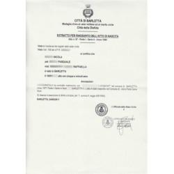 Certificato / Estratto di nascita